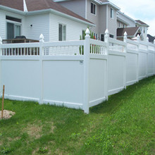 durable picket top private fence