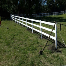 PVC post and rail fence for wholesale