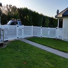 beautiful pvc lattice fence
