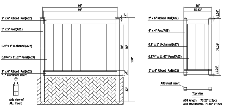 Pvc Fence Gate Hardware Stainless Latch Lock Hinge Cheap