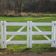 Horse fence gate for