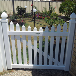 PVC fence 3 ft single gate /pvc garden fence swing gate
