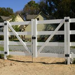 double swing gates on farmland /pvc fence gate hinges/pvc fence gate for truck