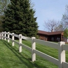 PVC clear 2 rails fence