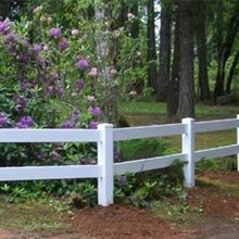 PVC horse rail ranch fence --UV protection