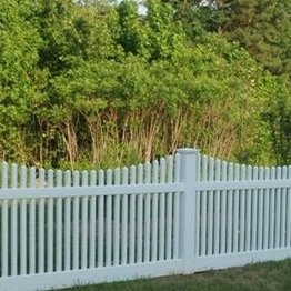 vinyl picket fencing/ low maintenance,you will never worry about painting or staining again.