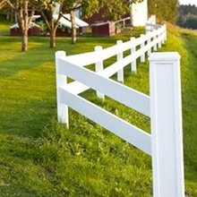 PVC 2 Rails Farm Fence