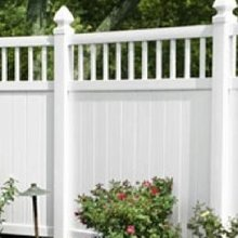 vinyl private fencing gate