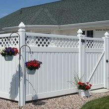 PVC used privacy fences designs