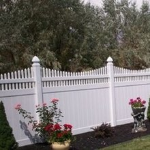 vinyl used privacy fence