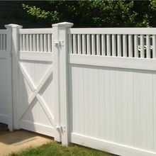 vinyl privacy garden fence plastic