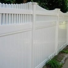 Vinyl privacy yard fence panel