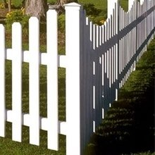 White Plastic Picket Fencing