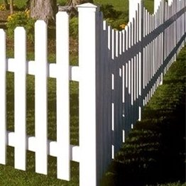 white pvc picket fence/Easy to clean