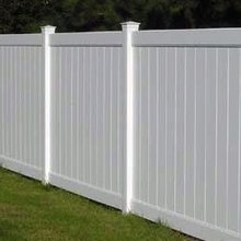 PVC Plastic Outdoor Privacy Fence
