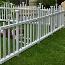 pvc picket fence/a Low maintenance fence