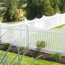 white or tan or gray vinyl picket fence/you can choose three colors