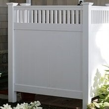 plastic vinyl privacy fencing designs