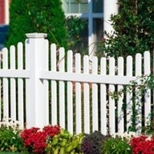 Vinyl garden fence post--UV protection