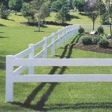 PVC plastic cross rail[交叉横杆] horse fence
