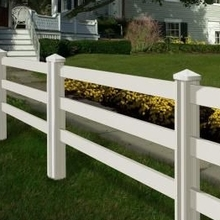 PVC Ranch Railing Fence