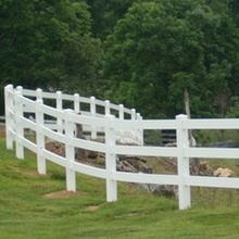PVC 3 rails fences for horse