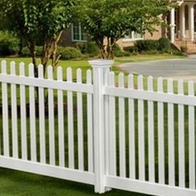 white vinyl scalloped picket fence/make your garden better looking