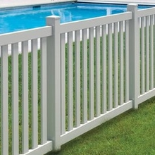 plastic used pvc security guardrail