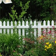PVC vinyl clear picket fence