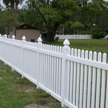 white scalloped picket vinyl fence panel/Not only are they easy to install, they look great