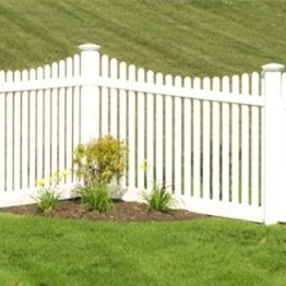 Plastic pvc vinyl Picket Garden Fencing/you can choose white or tan or gray three colors