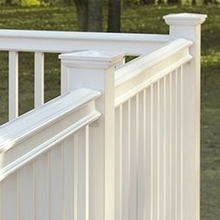 used vinyl plastic garden fence and balconies