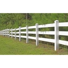 PVC white horse fence designs
