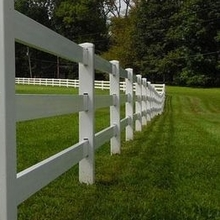 PVC used sturdy rails fences