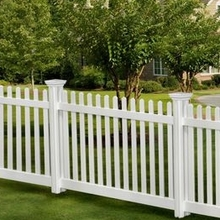 white plastic picket fence outdoor