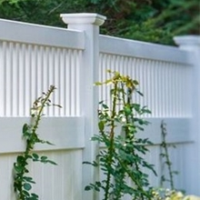 PVC plastic fence panel/the sample of white vinyl fence