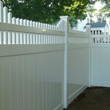 high quality beautiful pvc privacy fence with pickets