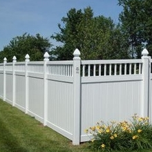 Plastic Privacy Fence with closed picket top/new design of pvc fence /vinyl picket fence