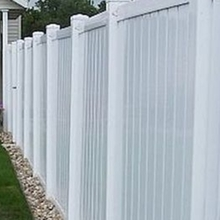 free maintanence UV protection vinyl pvc used privacy fence for house and garden