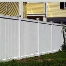Decorative White PVC Vinyl Plastic used fence panels
