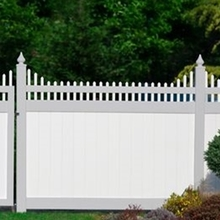 high quality plastic garden fencing with  100% virgin vinyl throughout