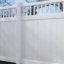 used PVC Security semi-private fences/Neighbor-friendly design for pvc fencing