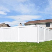 Decorative White PVC Vinyl Plastic fence panels