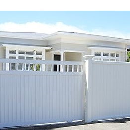 Vinyl Privacy Fence with Picket top/the color of pvc fence post