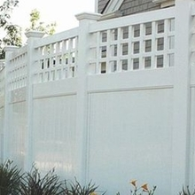 modern design pvc vinyl fence /the importance of the safety of the pvc fence