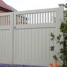 vinyl security garden privacy fence pvc