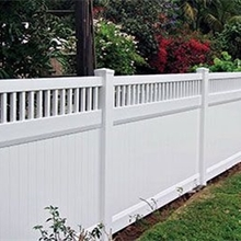 hot sales beatiful white color pvc privacy fence top closed picket