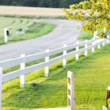 Ranch Fence Styles Plastic Vinyl Horse Fence PVC Fencing