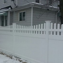 White Picket Top Decorative PVC Fence