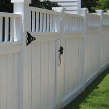 pvc plastic garden yard fencing/white vinyl picket fence